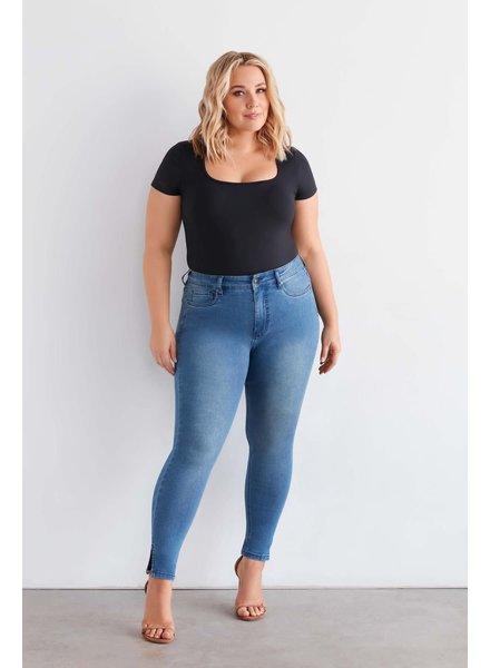 Fox Factor skinny jeans Niki ankle split