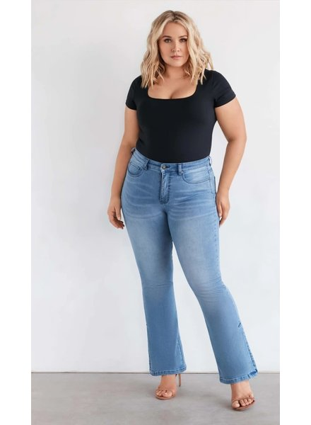Fox Factor flare split jeans FoxFactor