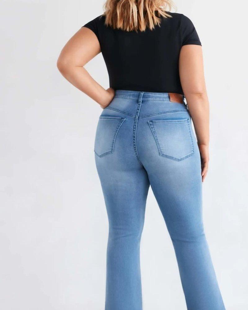 flare split jeans FoxFactor