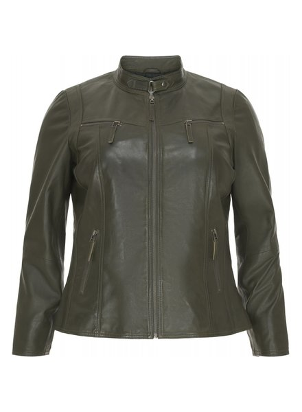 No.1 by Ox Leather biker olive green