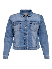 Only Carmakoma Denim jacket Wespa light blue