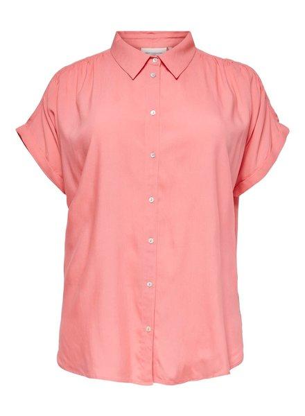 Only Carmakoma blouse Marok koraal