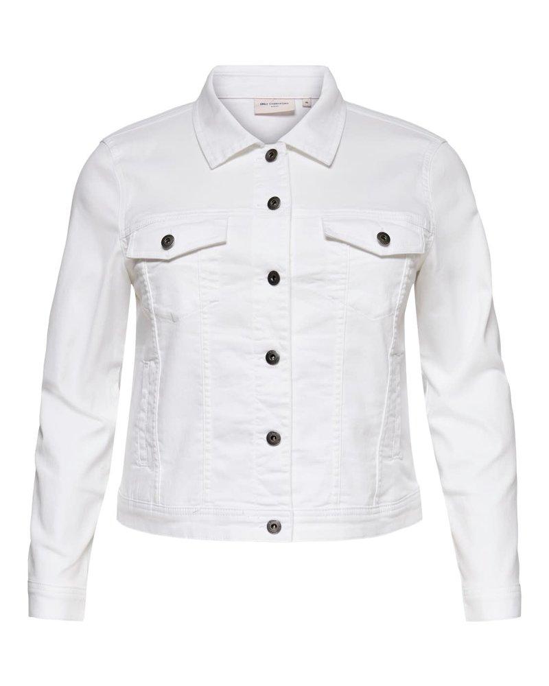 Only Carmakoma denim jacket Wespa white