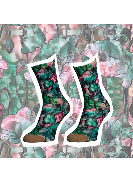 Sock My Feet sock my funky flower