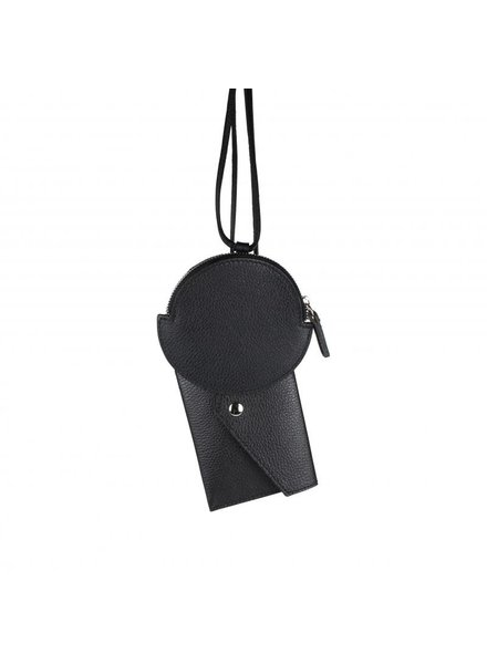 off the chain necklace/bag black
