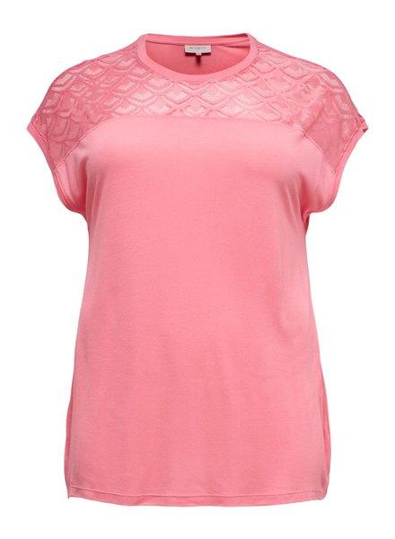 Only Carmakoma tshirt flake strawberry pink