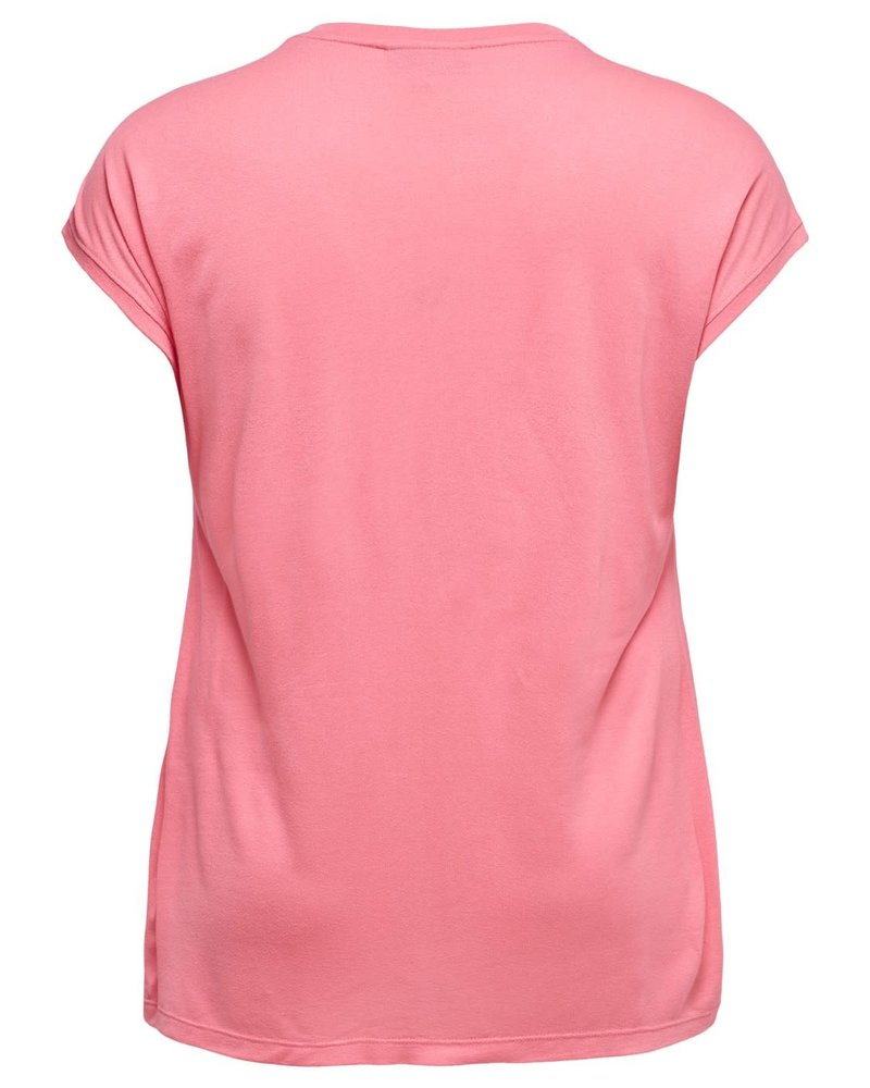 Only Carmakoma tshirt flake strawberry pink