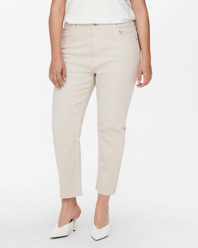 Only Carmakoma straight ankle jeans ecru