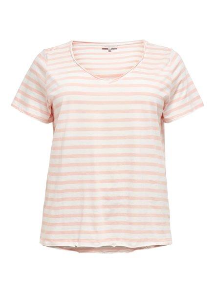 v-hals tshirt stripes peach melba