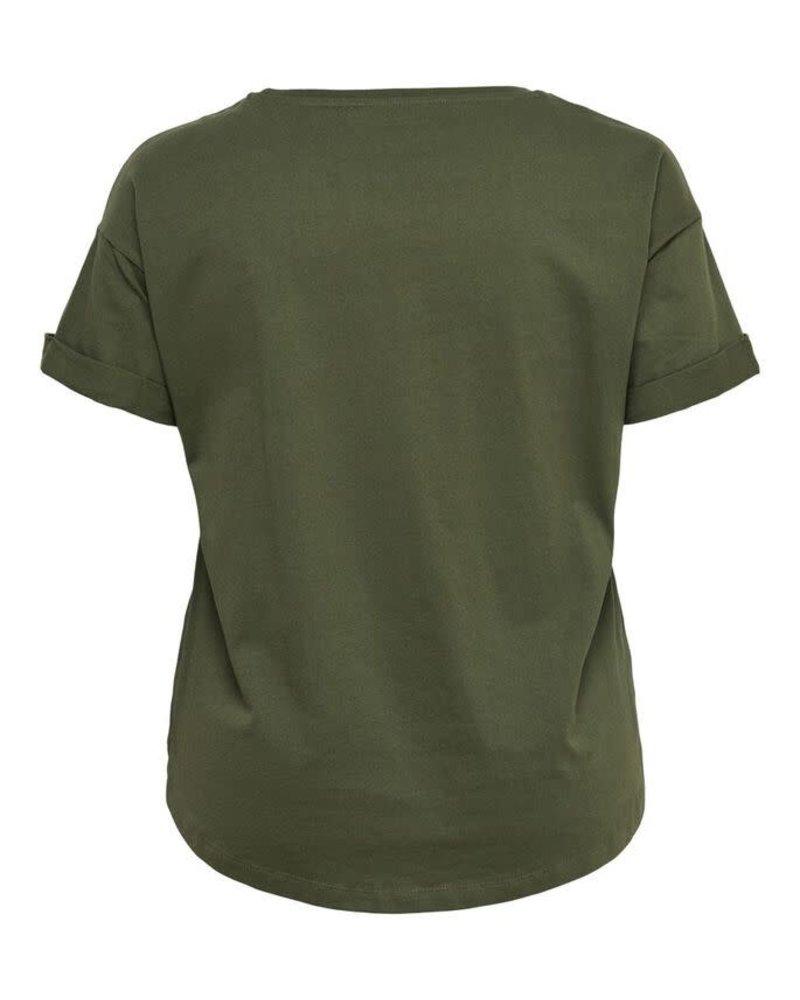 Only Carmakoma tshirt Kaylee kalamata green