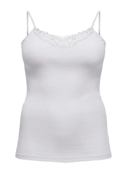 Only Carmakoma basic singlet Kiraz lace wit