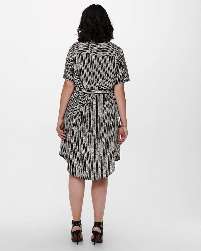 Only Carmakoma shirtdress Mille dot stripe