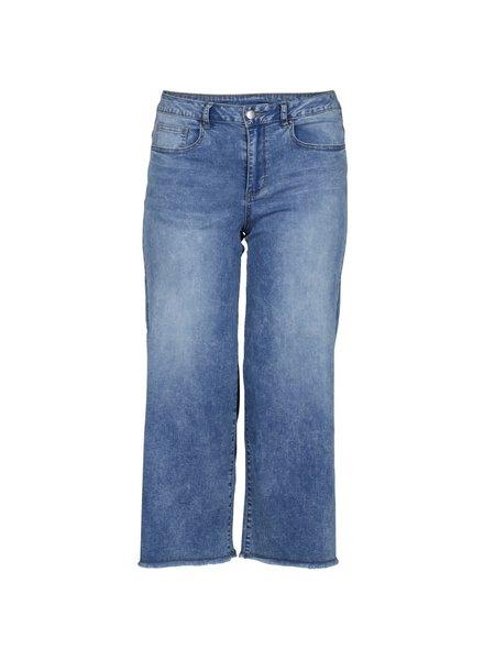 Cropped wide jeans Fia denim blue