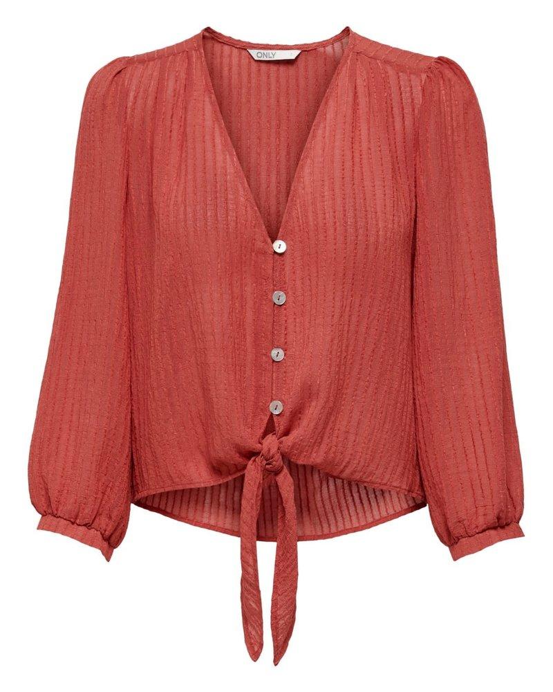 Only Carmakoma emma knot shirt 7/8