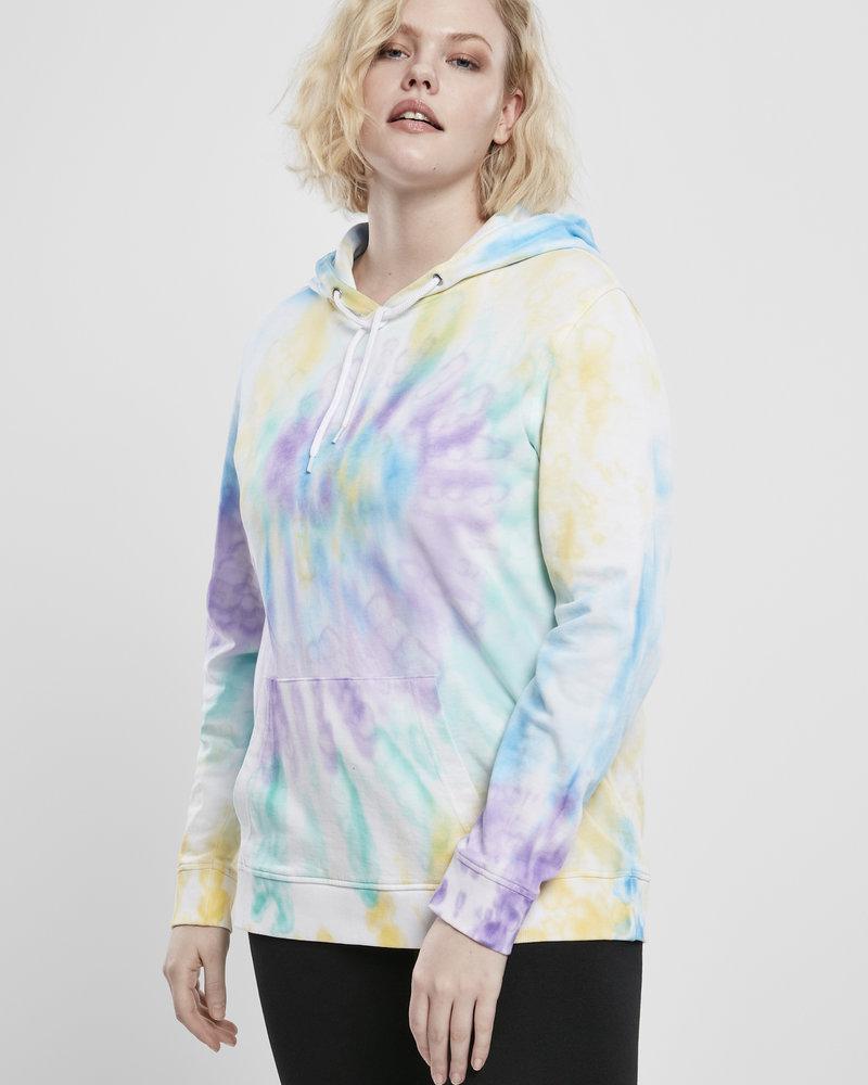 Urban Classics Hoodie tye dye pastel