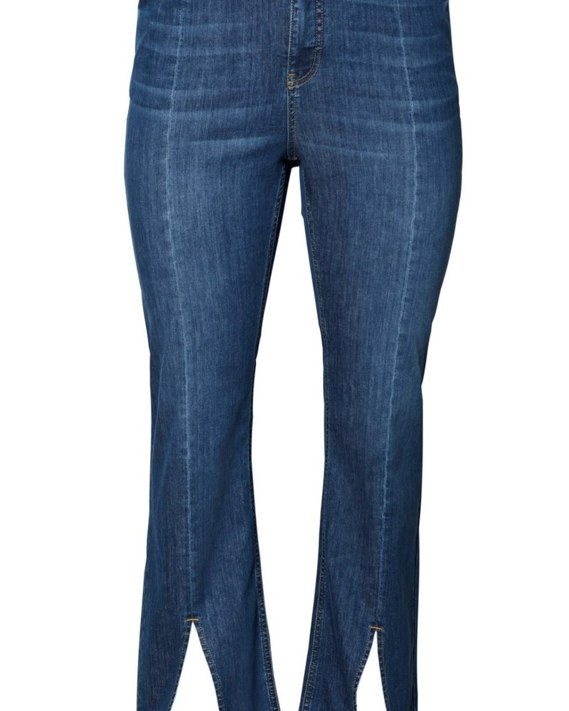 Vero Moda Curve Flare slit jeans Riley