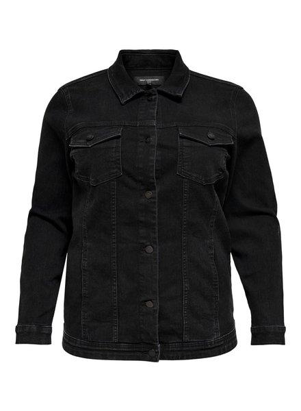 Only Carmakoma jacket long Wespa black washed