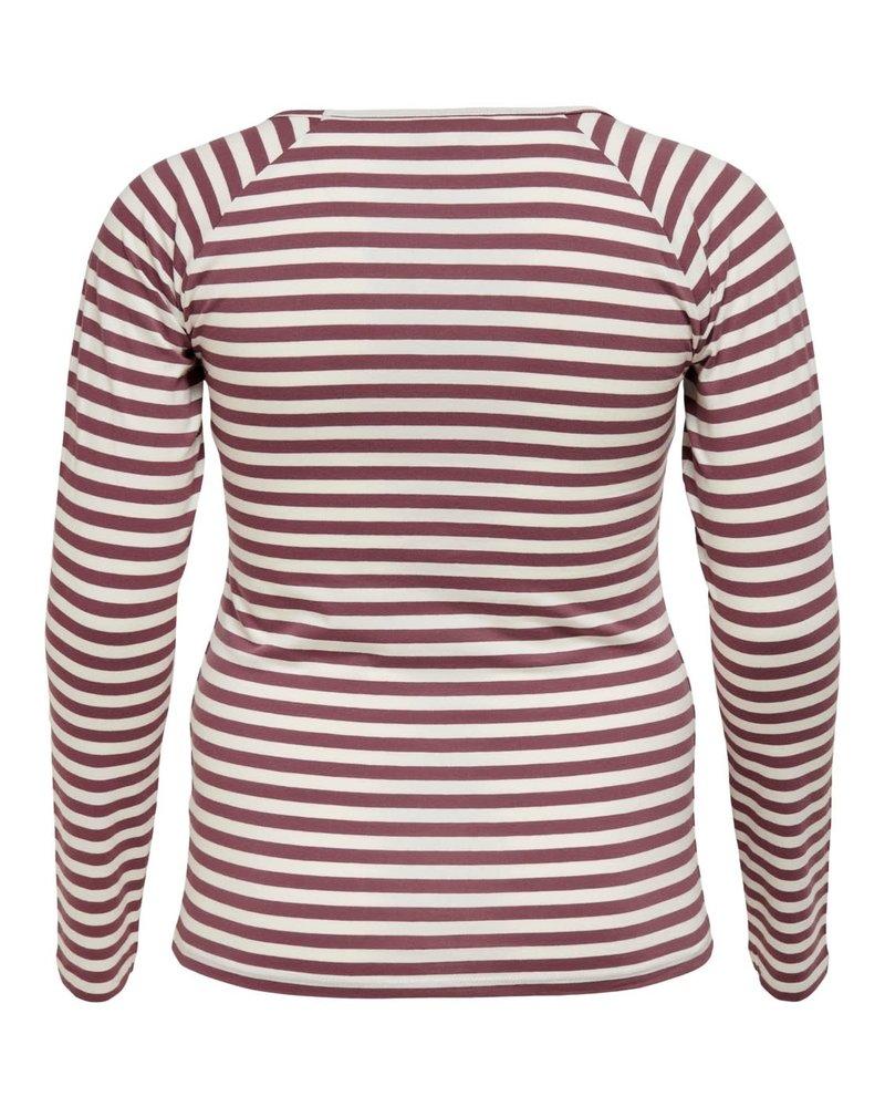 Only Carmakoma shirt lm Gigi rose/brown
