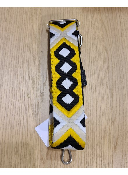 woven strap black/yellow (zilver)