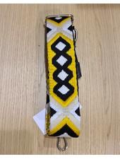 woven strap black/yellow (goud)