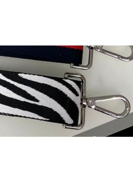 Strap zebra (zilver)
