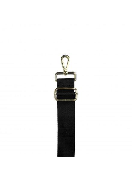 woven strap black (goud)