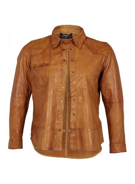 Leather shirt Mila