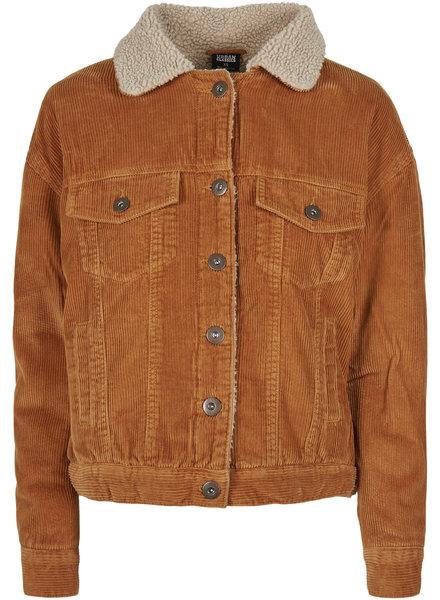 Urban Classics Sherpa corduroy jacket caramel/beige