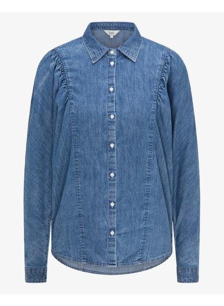 Denim volume sleeve shirt Lee