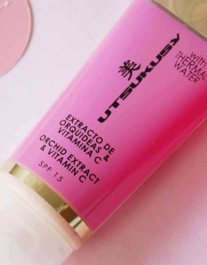 Utsukusy Orchidee creme met thermaal water en vitamine C, tube 100ml