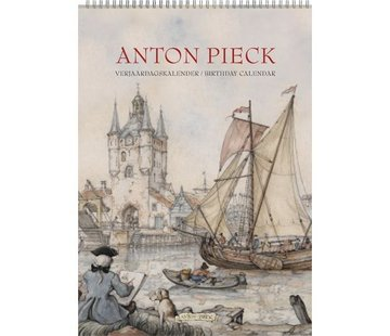 """Comello Anton Pieck A4 """"Harbor View"""" Birthday Calendar"""