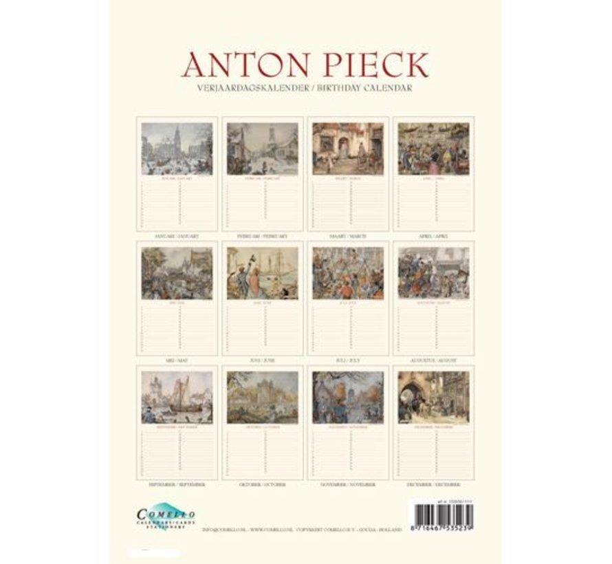 """Anton Pieck A4 """"Zicht op Haven"""" verjaardagskalender"""