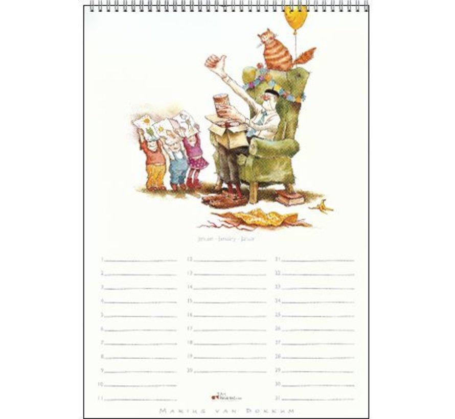 Marius van Dokkum Opa Jan Verjaardagskalender