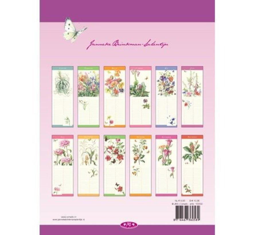 Janneke Brinkman Verjaardagskalender voorjaarsbloemen