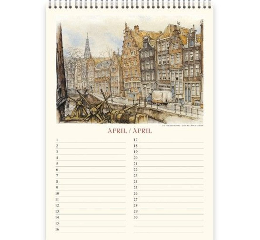 Anton Pieck Amsterdam Anniversaire Calendrier