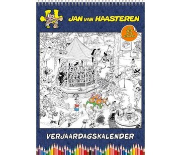 Comello Jan van Haasteren Birthday Calendar Coloring