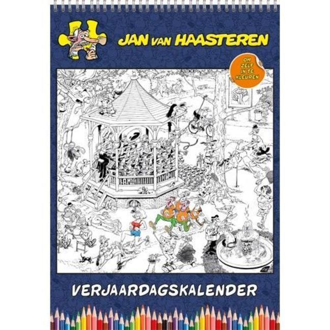 Comello Jan van Haasteren Calendario de cumpleaños para colorear
