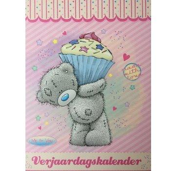 Lannoo Me to You Birthday Calendar Pink