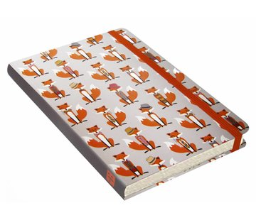 Peter Pauper Dapper Foxes Notitieboek mid-size (A5)
