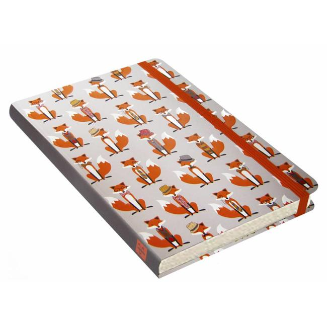 Peter Pauper Dapper Foxes Notitieboek mid-size (A5)