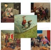 Comello Set of 5 Marius of Dokkum Greeting Cards