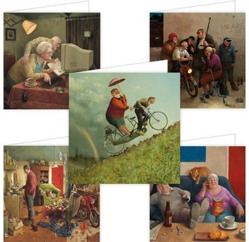 Comello Set of 5 Marius of Dokkum Greeting Cards