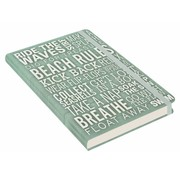 Peter Pauper Beach Rules Notebook mid-sized (A5)