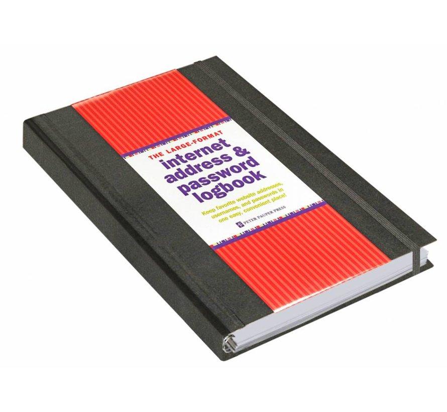 Internet address & password logboek zwart groot