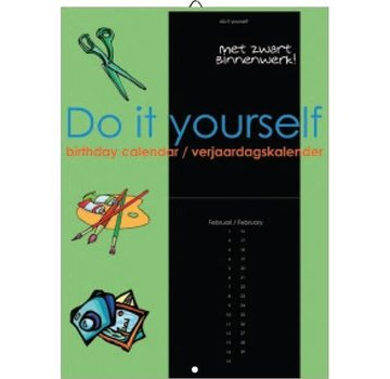 Comello Do It Yourself Verjaardagskalender zwart