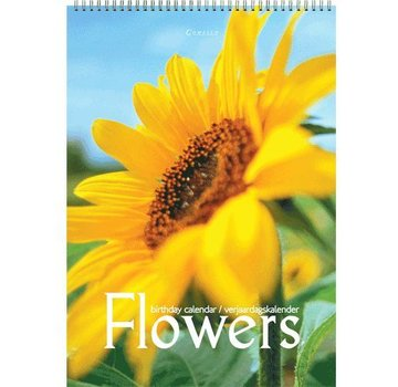Comello Flowers Birthday Calendar A4