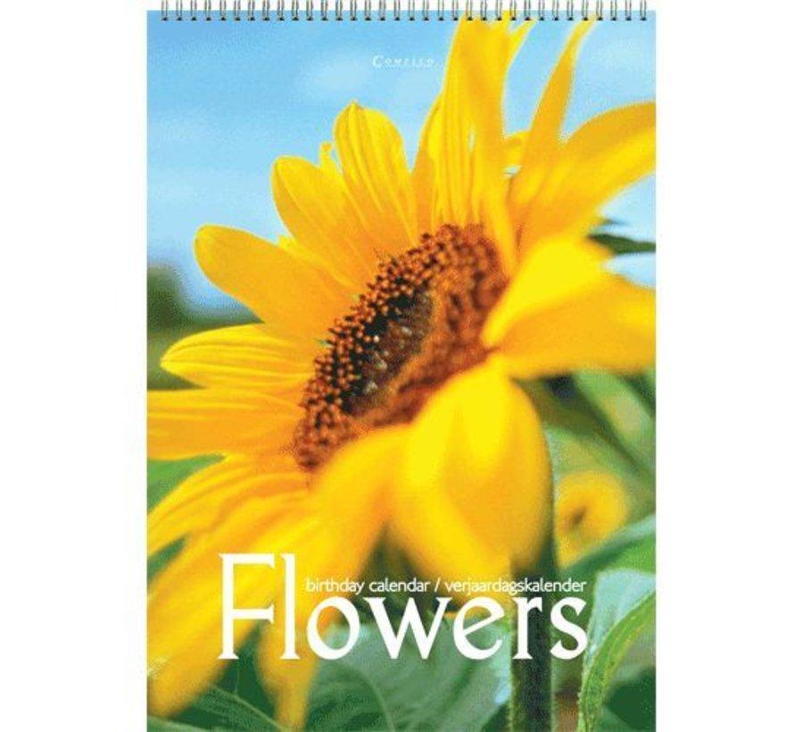 Fleurs Anniversaire Calendrier A4