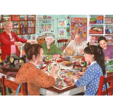The House of Puzzles Crafty Corner 1000 Puzzle Pieces