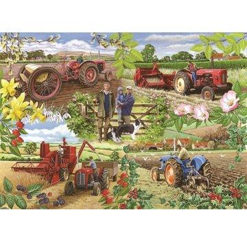 The House of Puzzles Année agricole 1000 Puzzle Pieces