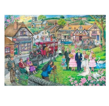 The House of Puzzles Twenties 1000 Green Puzzle Pieces